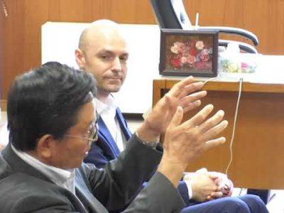 クラランス社長が阿蘇市長を表敬訪問